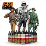 AK Acrylics Figures Series Single Colors (Brush + Airbrush)