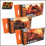 AK Acrylics Wargames Series Sets (Brush + Airbrush)