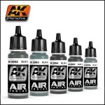 AK Acylics Air Series Single Paints (Brush + Airbrush)