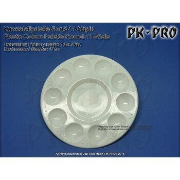NEU Aluminiumpalette 6 Näpfe 11 cm rund