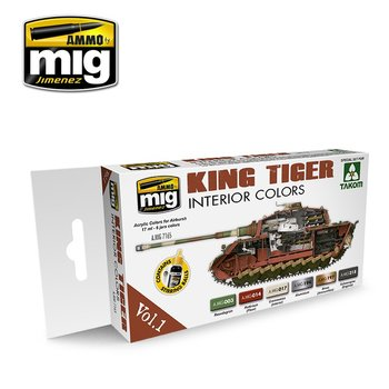 A.MIG-7165-King-Tiger-Interior-Color-(Special-Takom-Edition)-Vol.1-(6x17mL)