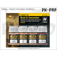 Vallejo-Pigment-Set-Rust-&-Corrosion-(4x35mL)