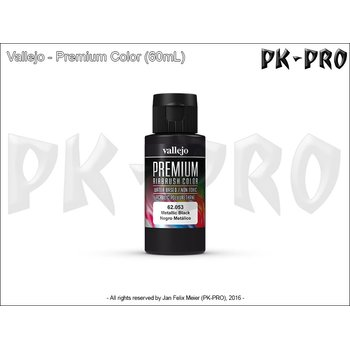 Vallejo-Premium-Metallico-Black-(Polyurethan)-(60mL)