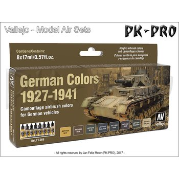 Model-Air-Set-German-Vehicles-Colors-1927-1941-(8x17mL)