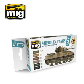 A.MIG-7171-WWII-US-Marine-Corps-Sherman-Tanks-(6x17mL)