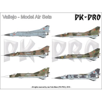 Model-Air-Set-Soviet-/-Russian-Colors-MiG-23-Flogger-(8x17mL)