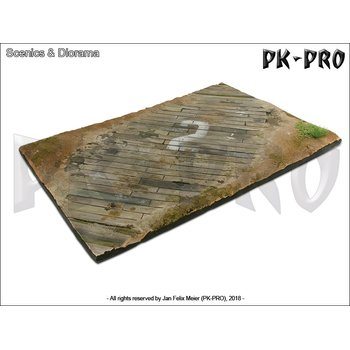 Scenics-Diorama-Bases-31x21cm-Wooden-airfield-surface