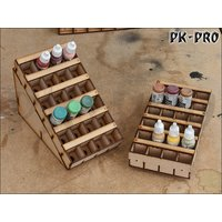 Dropper Paint Bottle Half Rack (Vallejo size)