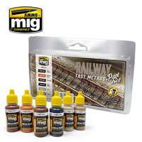 A.MIG-7471-Railway Fast Method Paint Set-(6x17mL)