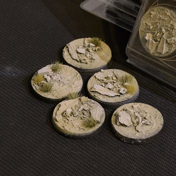 Arid Steppe Bases Round 40mm (x5)