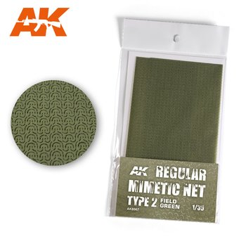 AK-8067-Regular-Camouflage-Net-Type-2-Field-Green-(16×23cm)