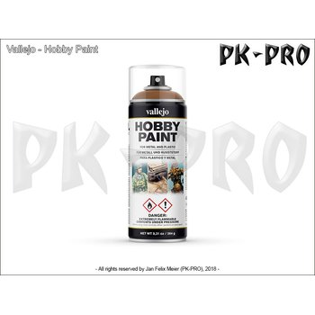 Vallejo-Hobby-Paint-Spray-Leather-Brown-(400mL)