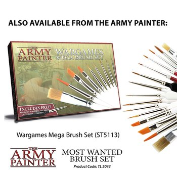 The Army Painter - Most Wanted Brush Set (3x)