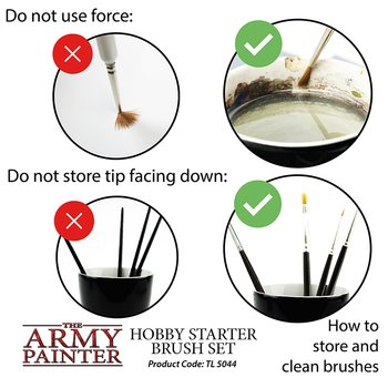 The Army Painter - Hobby Starter Brush Set (3x)
