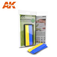 AK-8208-Green Power Bi-Component Modelling Putty (2x10cm)