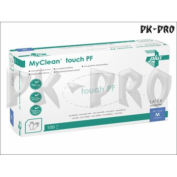 MyClean touch PF Latex Disposable Glove Powder free - Size L - 100x