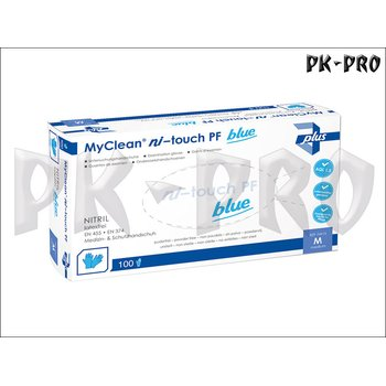 MyClean ni-touch PF Nitrile Disposable Glove Powder-Free - Size L - 100x