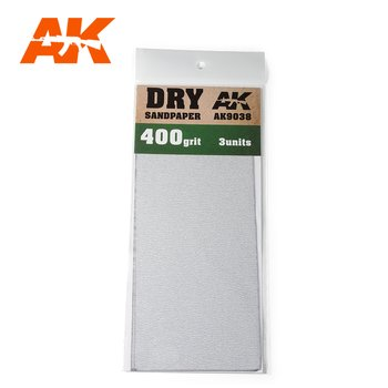 AK-9038-Dry-Sandpaper-400-Grit.-3-units