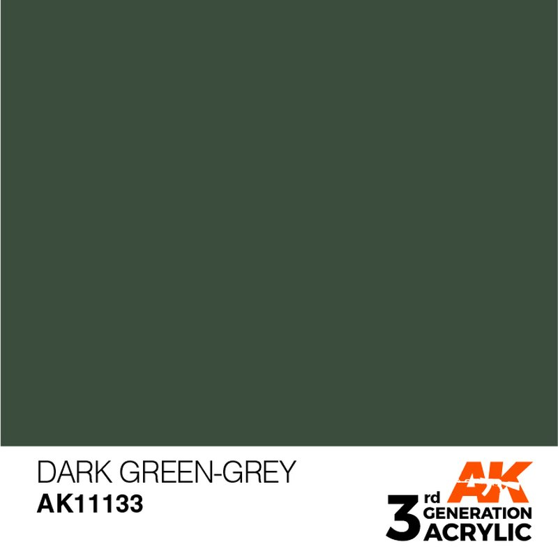 Ak 11133 Dark Green Grey 3rd Generation 17ml