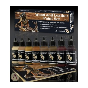 Scale75-Wood-and-Leather-Paint-Set-(8x17mL)