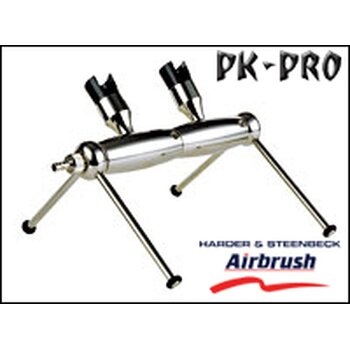 H&S-airbrush holder in module construction, basic module for 2 airbrushes, with insert for all models except COLANI-[110193]