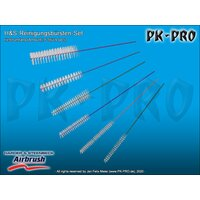 H&S-brush set for cleaning, 6 pcs.-[870041]