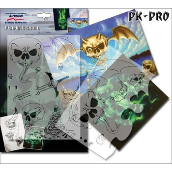 """Airbrushing stencil /""""Leopard/""""  A4 template by Harder Steenbeck solvent resistent"""