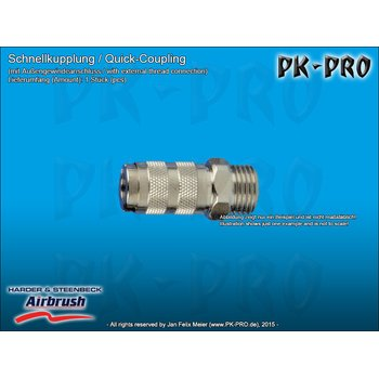H&S-quick coupling nd 2.7mm,, with G 1/8 male thread-[104403]