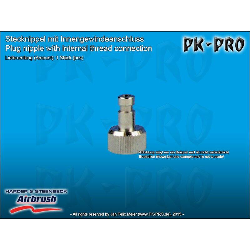 Stecknippel NW 2,7 mm mit M7 x 0,75 Innengewinde für EFBE 104093