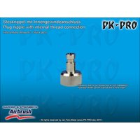 H&S-plug in nipple nd 2.7mm,, with M5x0.45 female thread...