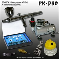 Airbrush-BD183K+Kompressor-AS18-2-Starter-Set