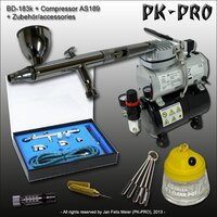 Airbrush-BD183K+Kompressor-AS189-Starter-Set