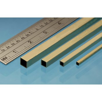 Square Brass Tube (1.6 mm x 1.6 mm - 3 x)