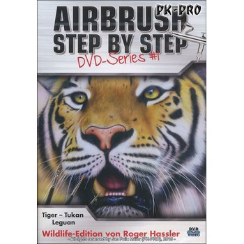 Airbrush STEP BY STEP DVD-Wildlife Series I - Roger Hassler