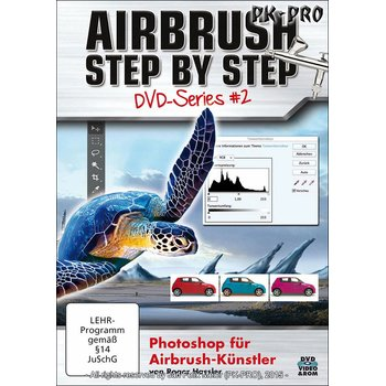 Airbrush STEP BY STEP DVD-Photoshop for Airbrush-Künster Series II - Roger Hassler